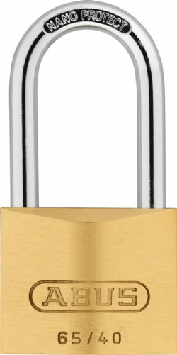Abus 65/40HB40 Brass 40mm Long Shackle Padlock